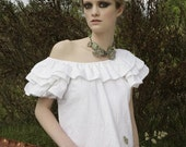 Embroidered or Eyelet fabric Puffy Sleeve Dress