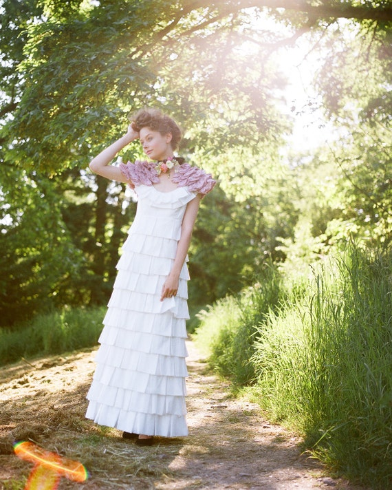 Items similar to wedding dress organic cotton anemone for Organic cotton wedding dress
