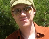 Knitting Pattern - Hawkeye - Adult Unisex Cadet Style Hat