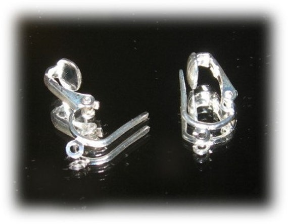 how to convert fish hook earrings to clip ons