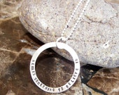 Circle of Love Names or Special Phrase Necklace