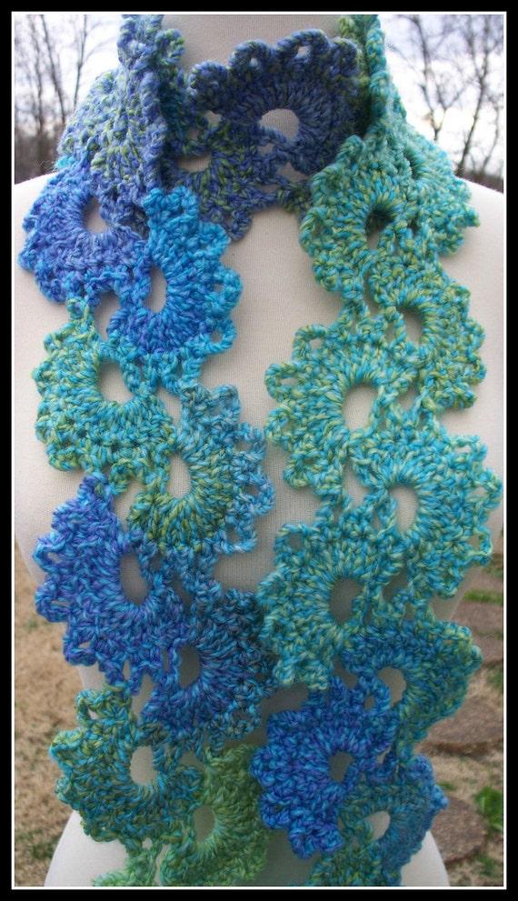 Free Crochet Pattern Queen Anne Lace Scarf : Crochet Scarf Queen Annes Lace by DreaminRedheads on Etsy
