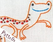 N Newt INSTANT DOWNLOAD PDF embroidery pattern