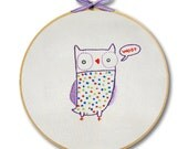 KIT embroidery owl wall art