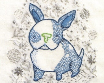 Boston puppy INSTANT DOWNLOAD PDF embroidery pattern