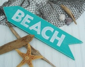Beach Sign light teal