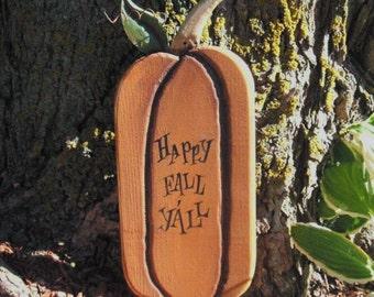 Happy Fall autumn halloween pumpkin sign