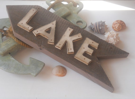 Rustic Lake Sign