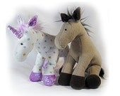 Unicorn - Horse Plush Toy Pattern PDF INSTANT DOWNLOAD