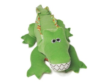 Crocodile  Plush Toy Sewing Pattern PDF INSTANT DOWNLOAD