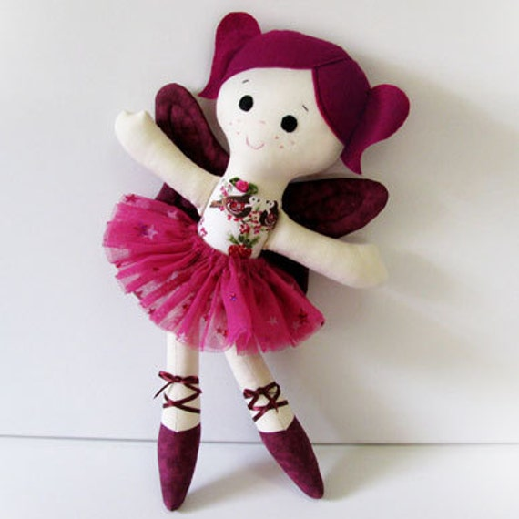 Sugar Plum Fairy Ballerina Cloth Doll Pattern PDF