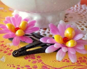 Waterlily- Set of 2 Hairclips