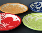 Set of 6 Dishes... you choose designs and colors... made to order