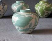 Aqua Bird... Mini Vase... In Stock