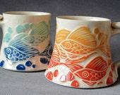 Fish... Favorite Mug... Blue and Aqua Blend