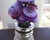 Beehive Button Bouquet - Purple