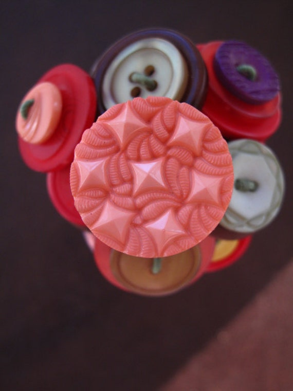 Beehive Button Bouquet - Fall Colors 2