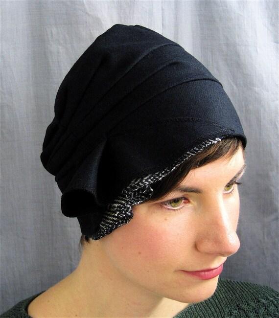 black wool cloche - on sale