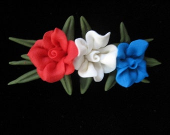 Cold Porcelain Floral Pin