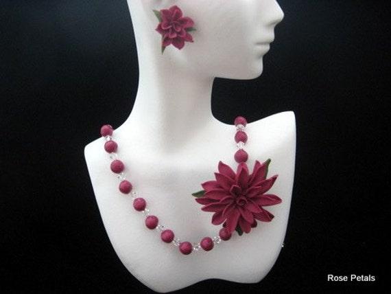 Porcelain Pendants Beads Cold Porcelain Beads Floral
