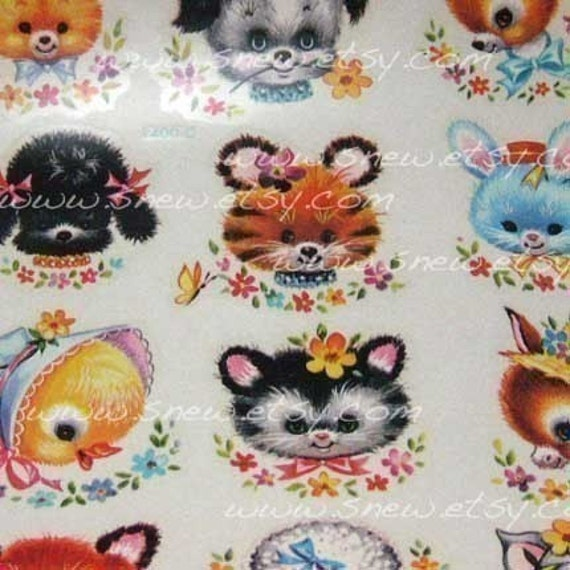 original VINTAGE animal decals retro