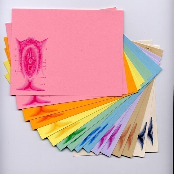 vagina rainbow stationery