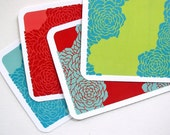 peony postcards, set of eight