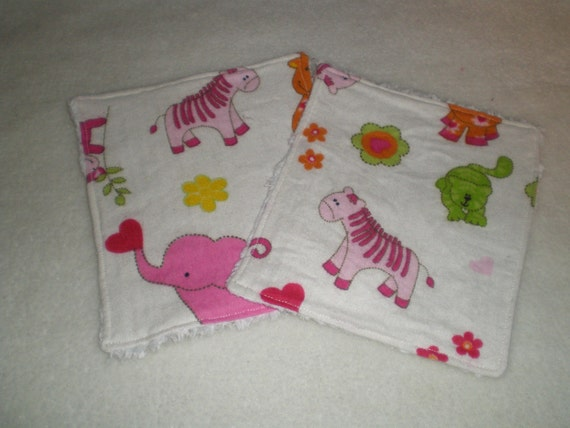 Wipes Washclothes Reusable Baby Zoo Animals and Chenille Sale