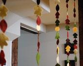 Fall Leaf Garland - Bring Autumn Indoors, 12 ft Felt Leaves