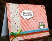 BLACK FRIDAY SALE Holiday Card - Season's Greetings Owl