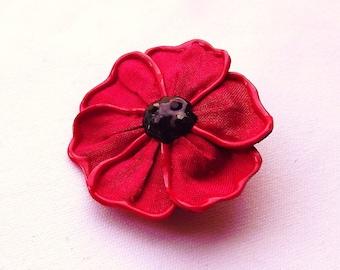 Flanders Poppy brooch - small