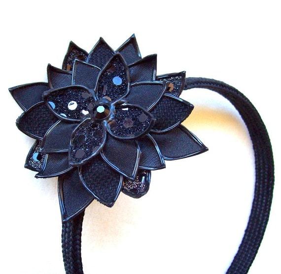 Darkest Dahlia - brooch/headband