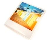 Resin Acrylic Shrink Plastic Brooch Beach Huts Polaroid Summer