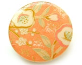 Peach Blossom Resin Brooch