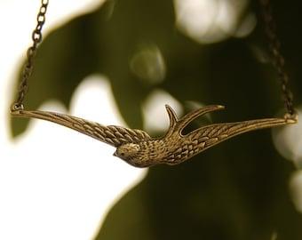 Bird in Flight Necklace