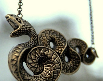 Snake Necklace - Brass