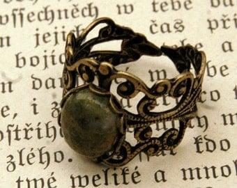 Unakite and Brass Ring
