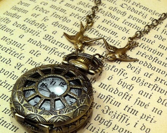 Brass Pocket Watch Necklace number 2