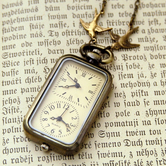 Double Watch Necklace