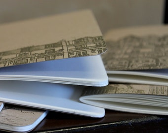 Cityscape letterpress notebook