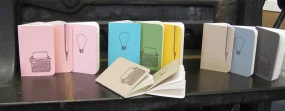 Bright Ideas - letterpress pocket note books
