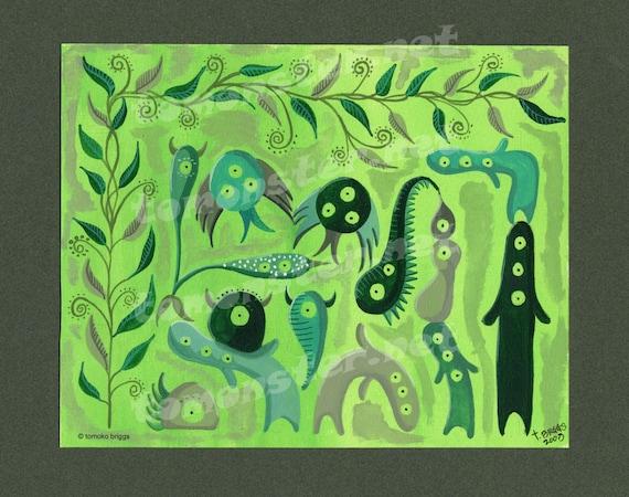 Green World - Greeting Card