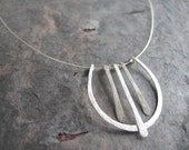 Lyre - Sterling Silver Cable Necklace