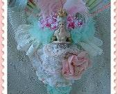 Opulent Marie Antoinette Altered Art Half Doll   TREASURY ITEM