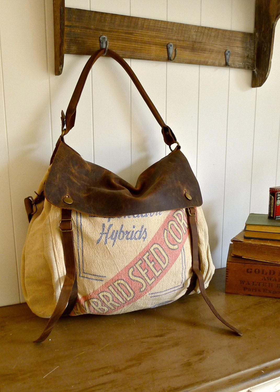 Pioneer Hybrid Seed Corn Des Moines IA Vintage Seed Sack