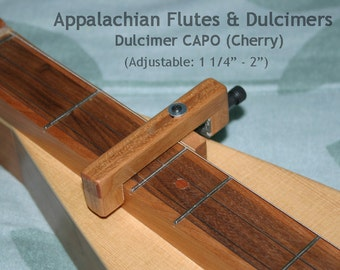 Hand-Made Mountain Dulcimer CAPO - Cherry
