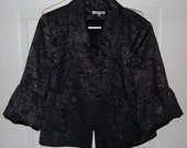 Black Iridescent Brocade Jacket