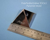 PYRAMID MOLD, stainless steel 6 CM / 2.36 inch for Vol. 25 Tutorial, Perfect for polymer clay, cookies and sugerpaste