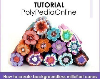 Polymer clay tutorial, Millefiori canes, Millefiore tutorial, FLOWER canes tutorial | Enchanted Garden | 6 Projects, PDF & Video | Vol 1