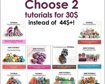 Polymer clay tutorial, Polymer clay MILLEFIORI canes tutorials, Polymer clay beads, How to polymer clay | SALE! | CHOOSE 2 for 30 |